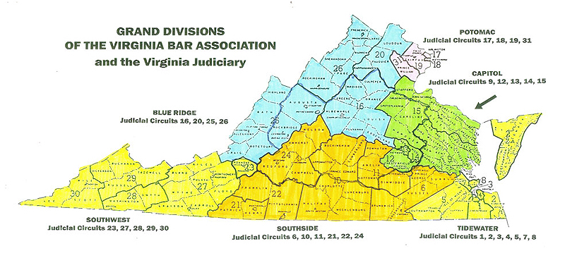 VBA Grand Divisions map