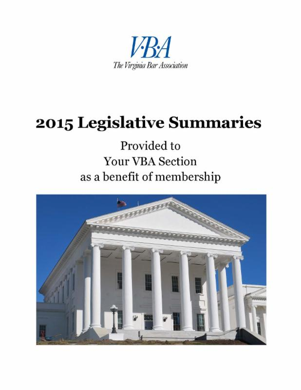 Legislative Summary cover page