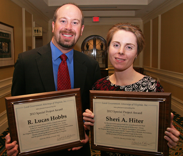 Amicus Award winners Lucas Hobbs, Sheri Hiter
