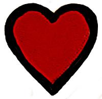 red heart black border