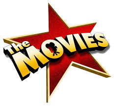 clip art that shows the word movies in front of a big red star.