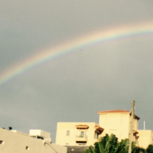 Rainbow over Coral Gables, FL