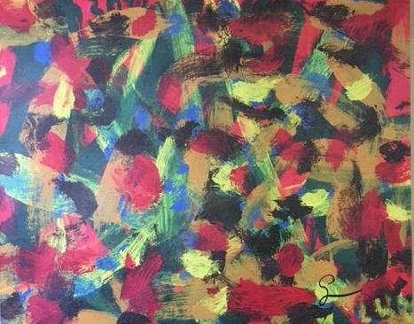 abstract original art by Luz Aponte