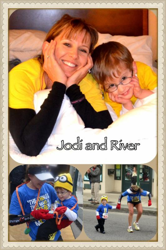 Ambassador of I Run 4, Jodi Stoner pictured with her (buddy) River Allen