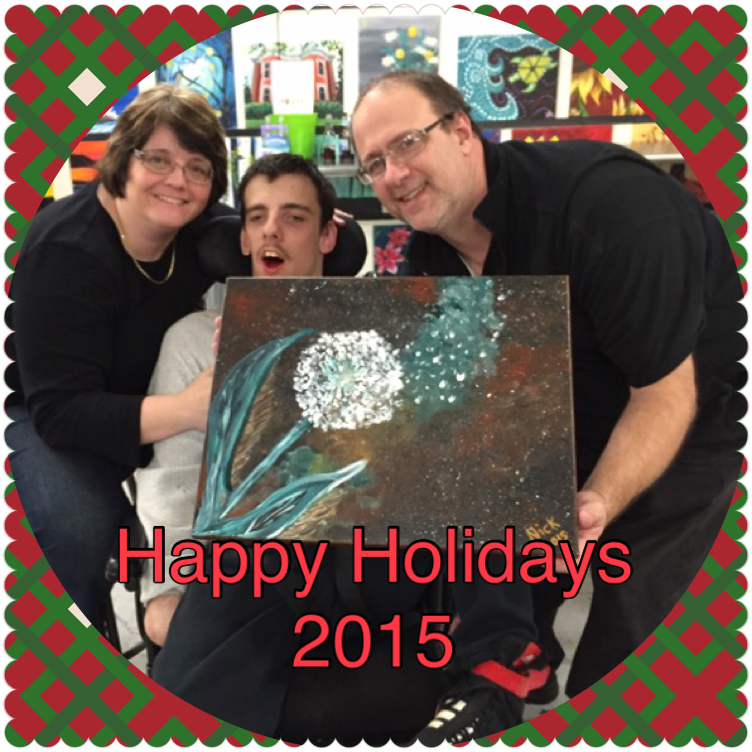 Julie, Nick, and Family wishing everyone a happy holidays