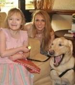 Kailea, Kim, and Mystic the dog.