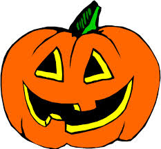 clip art of a pumpkin with a smiling jack-o-lantern face