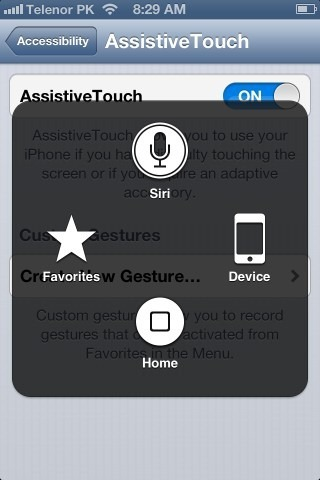 accessibility-assistive touch console picture on the new iphone