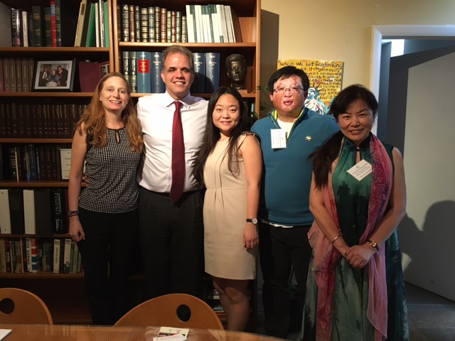 Debbie and Matt with Xiaomeng Qi, Song Song, and Hong Zhang from the People's Republic of China.