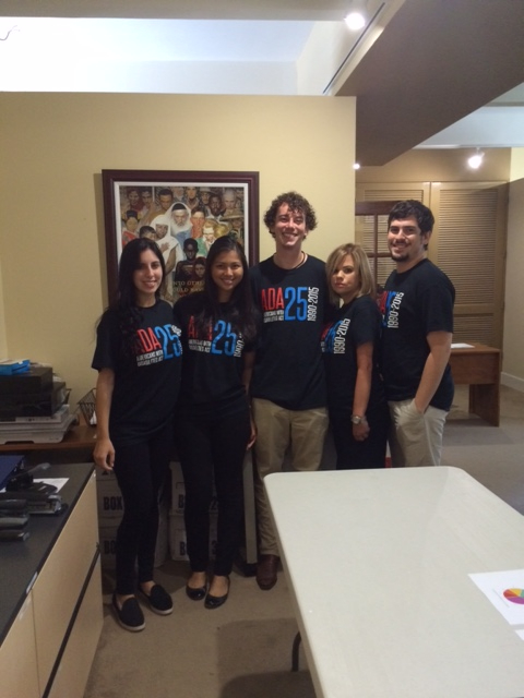DIG interns and undergraduate employees wearing their ADA shirts