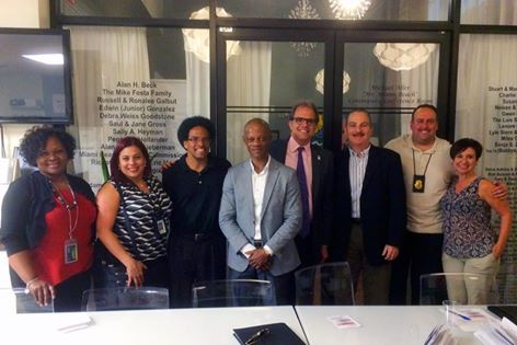Matt and the other speakers at the 2-16-16 LGBT Discrimination Event on Miami Beach