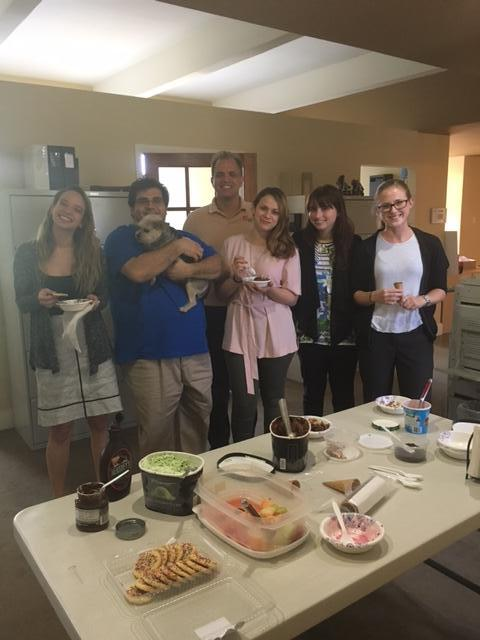 Matt with our 5 legal interns saying goodbye with an ice cream party at the DIG office.