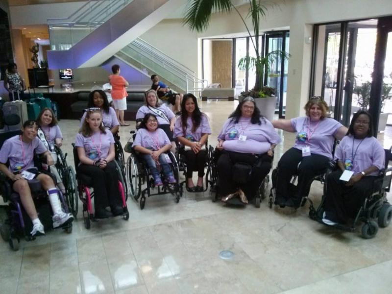 Group picture of the Ms. Wheelchair Florida Competition 2014.