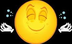 Meditative happy face