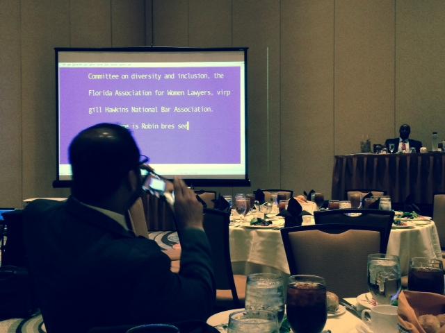 Annual FL Bar meeting, luncheon.