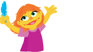 Julia, the new muppet on sesame street