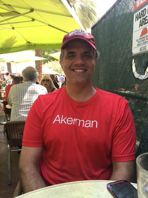 Matt sitting down after the AIDS walk on Miami Beach.