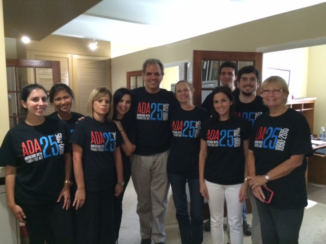 DIG office staff wearing their ADA shirts