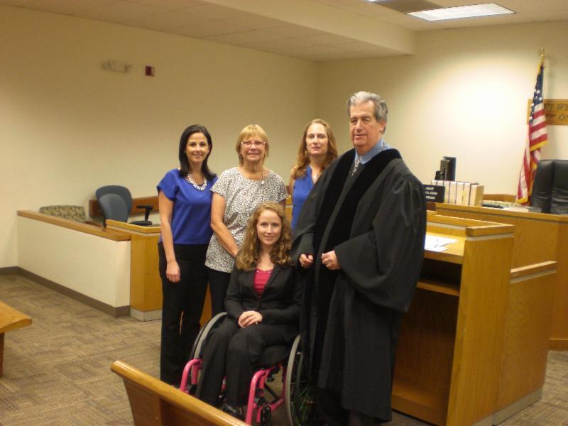 Rachel,  Sharon, Debbie, Judge Cohn, and Stephanie