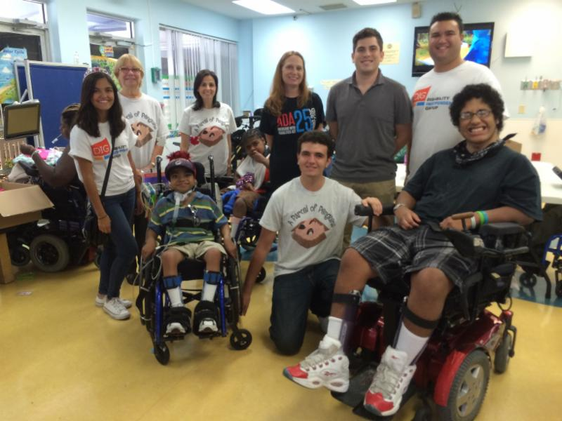 Group picture of DIG staff visiting Broward Children's Center.