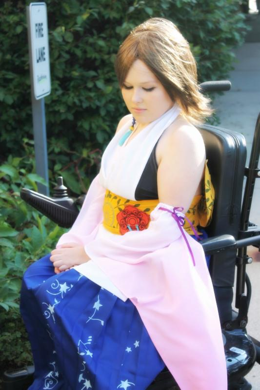 Misa on Wheels, a cosplayer from New England, who has a disability and cosplays while using a wheelchair