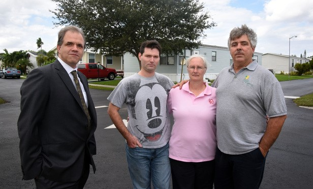 Danforth Family and Matt standing outside their home