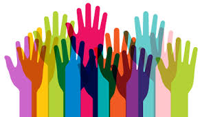 clip art of hands reaching up in all different colors