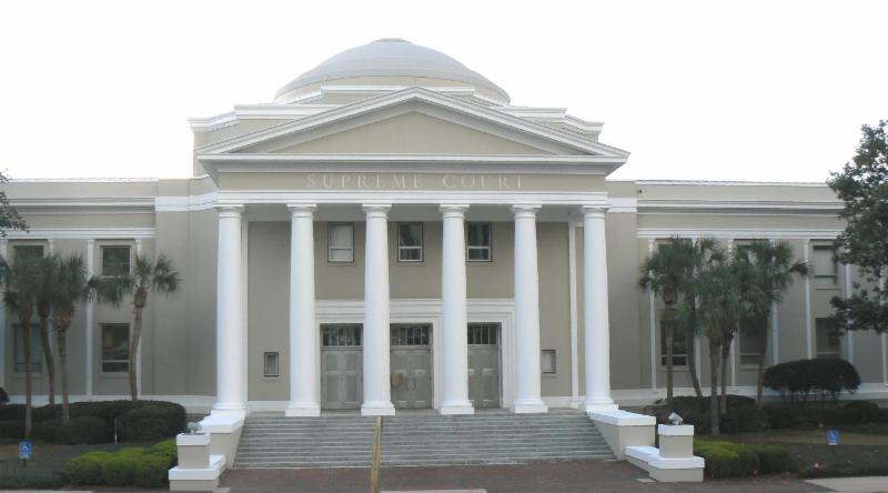 Picture of the front of the FL Supreme Court Building in Tallahassee, FL