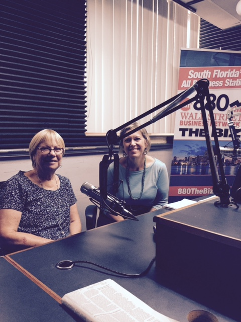 Sharon Langer and Katy Sorenson at the radio station