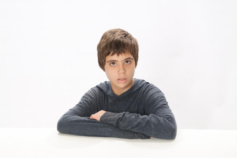 Marc is a cute 12 years old boy with autism