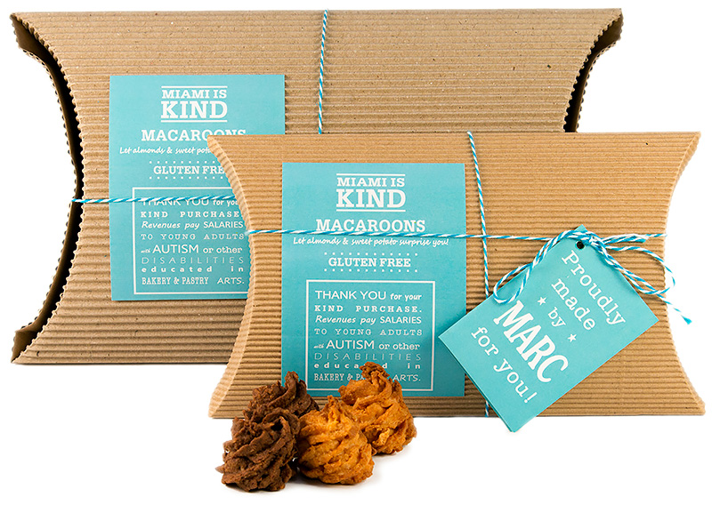Miami Is Kind Macaroons in European Style Pillow boxes delivered monthly at your doorstep