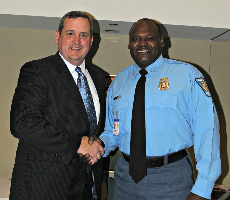 February chamber news jeff findley publisher of the post searchlight left presented the montford lynn peace officer of the year award to decatur county correctional officer aloadofball Images