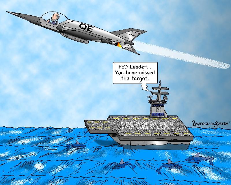 Cartoon: Bernanke Misses The Landing