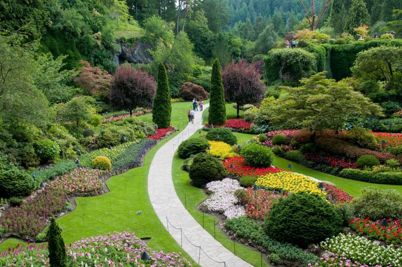 The famous Butchart Gardens at Victoria B.C.