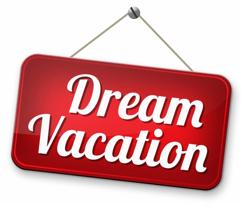 dream summer vacation travel and go on holiday cruise to paradise