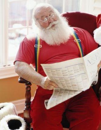 Santa Reading Newspaper 3