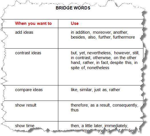 Bridge Words