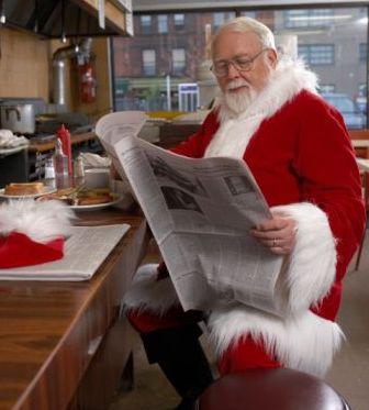 Santa Reading Newspaper 4