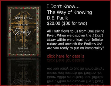 I Don't Know...The Way of Knowing