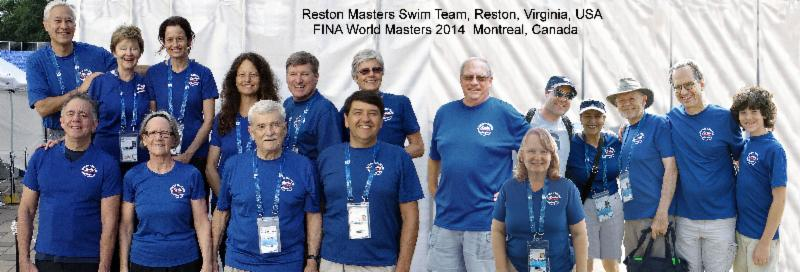 Reston Area Masters at 2014 Worlds, Montreal, Canada
