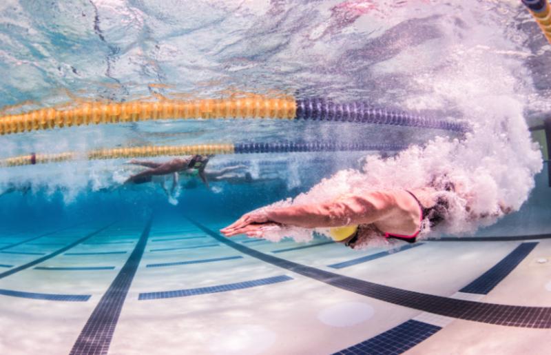 Dive, streamline, underwater, swimmer, swimming