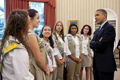 Gold Awardees Meet President Obama