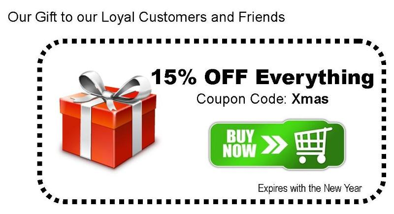 15% Off  Coupon Code = Xmas