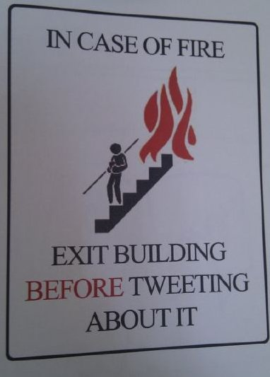 Twitter warning sign