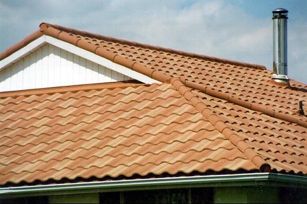 Metal roof metal roof barrel tile for Metal roof that looks like spanish tile