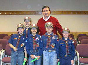 cub scouts and mayor