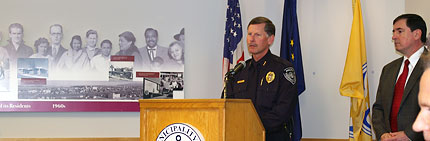 APD Chief Mew at Mayor's press conference