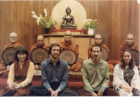 Renowned Burmese meditation master Ven. Mahasi Sayadaw presided over a teaching authorization ceremony at IMS in 1979.