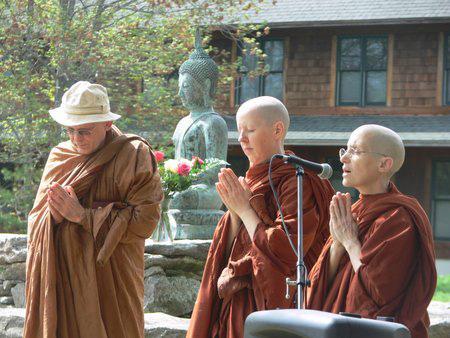 Monastics chanting