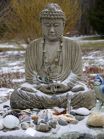Buddha in winter
